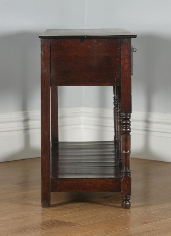 Antique Welsh Regency Georgian Oak Potboard Low Dresser Base Sideboard (Circa 1810)- yolagray.com