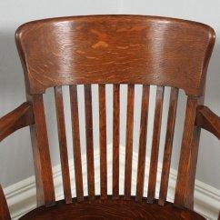 Revolving Chair For Kitchen Home Depot Plastic Adirondack Chairs Antique Edwardian Oak Swivel Office Desk Arm