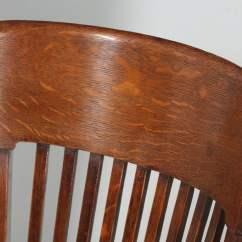 Revolving Office Armchair Sports Brella Chair Antique Edwardian Oak Swivel Desk Arm