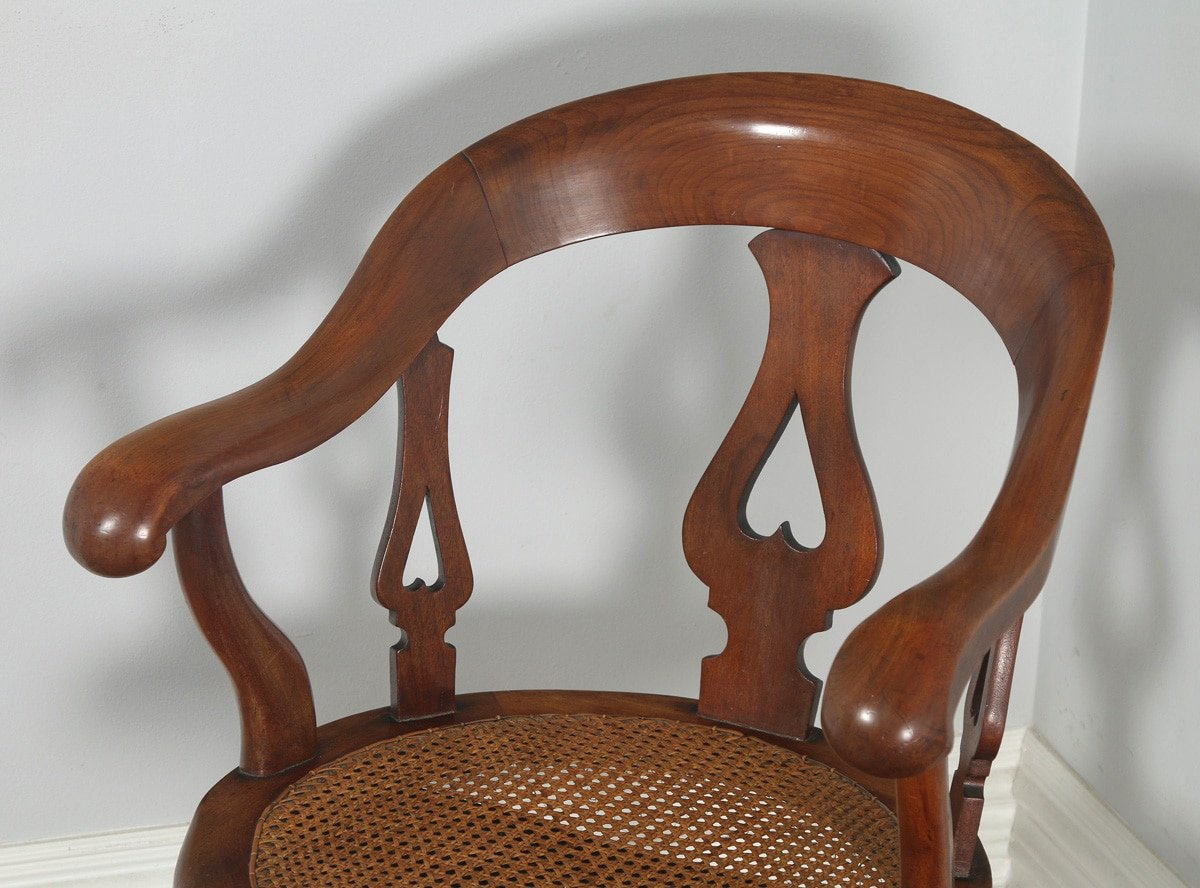 revolving chair for study pretty office chairs uk antique english victorian mahogany and cane