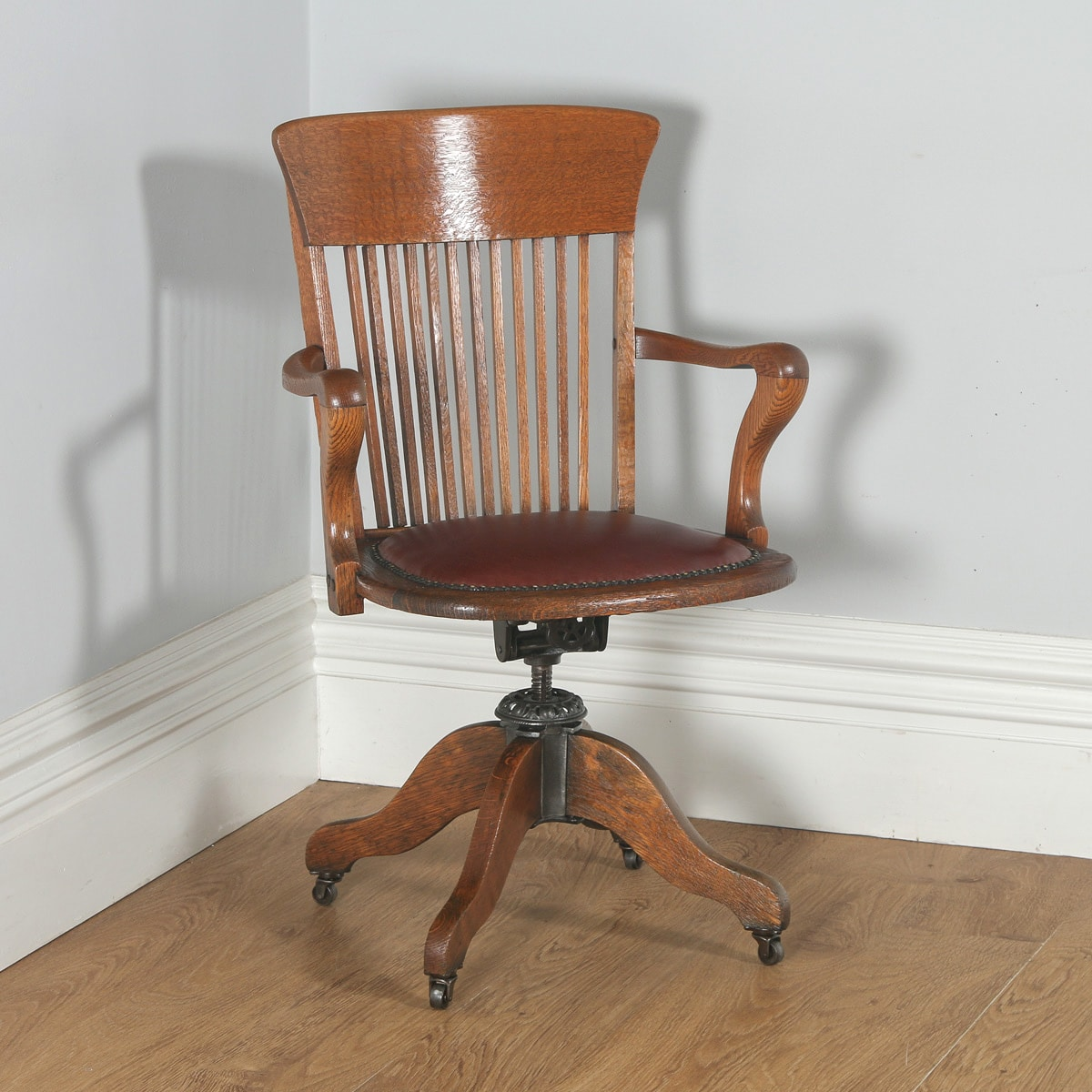 revolving chair in english rustic pub table and chairs antique edwardian oak leather office