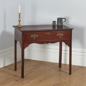 Antique English Georgian Mahogany Occasional Hall Side Table (Circa 1790)- yolagray.com