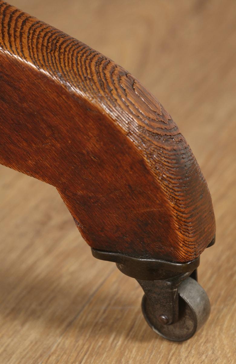 revolving dining chair wicker arm antique english edwardian oak swivel office desk (circa 1900) - yola gray ...