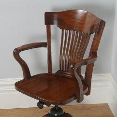 Revolving Office Armchair Buy White Chair Covers Bulk Antique English Edwardian Mahogany Desk