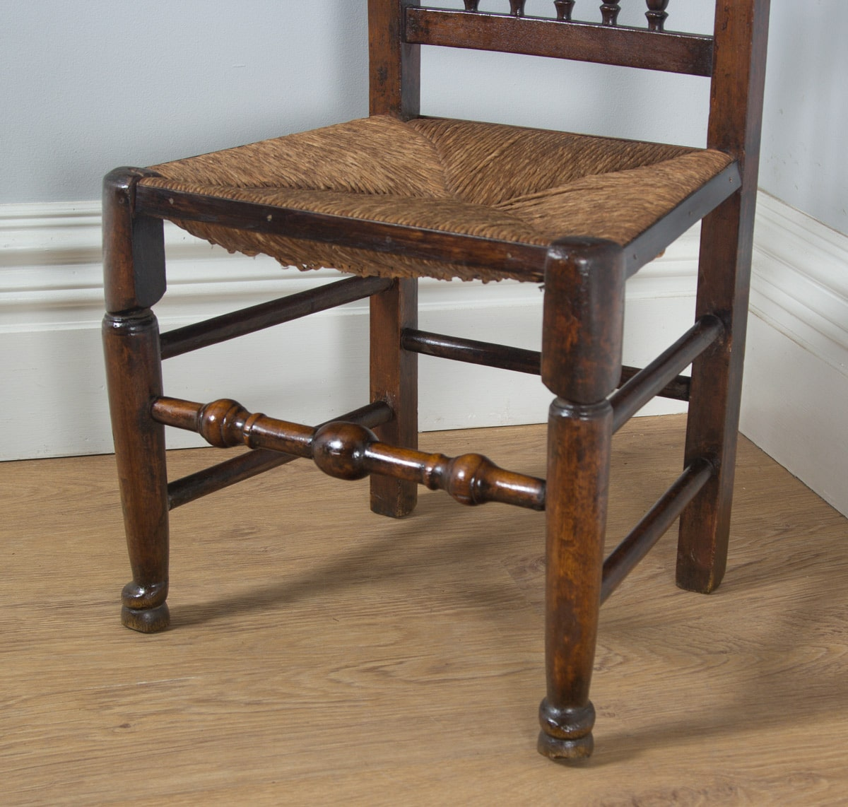 Country Kitchen Chairs Antique English Single Georgian Ash Elm Spindle Back Kitchen