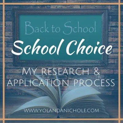 Back to School - School Choice