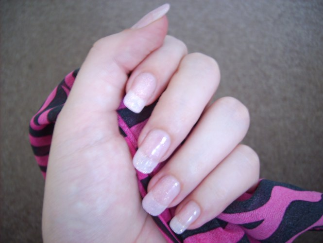 Gel 20nails 20with 20glitter