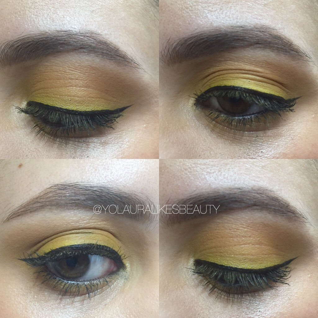 Pop Of Yellow Neutral Lips Makeup Look Yolauralikesbeauty City Color Contour Palette 2 Img 9470