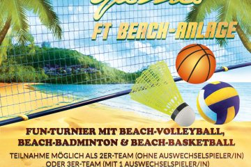 Flyer für das Yolawo-Beach-Games-Event