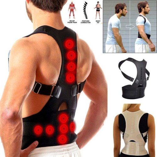 Unisex Adjustable Posture Corrector and Corset (Back Belt Lumbar Support)