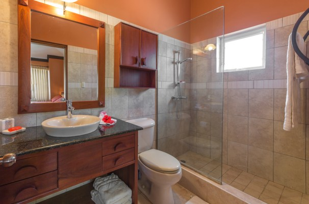 Each room has its own ensuite bathroom.