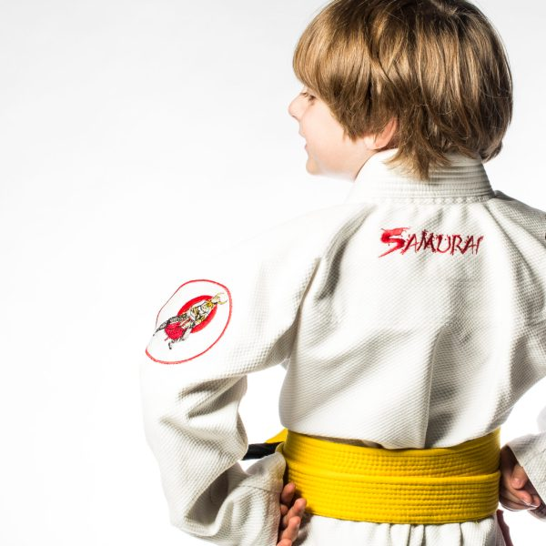Youth gi Samurai back view