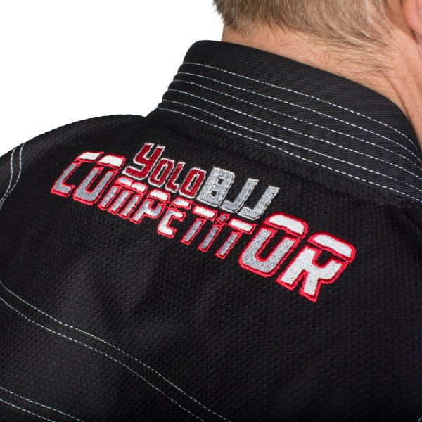 Comp450 BJJ gi Black neck detail