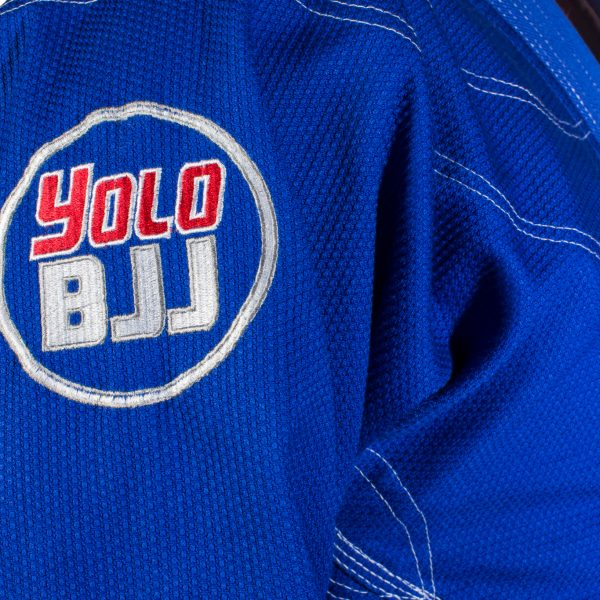 Comp450 BJJ gi Blue sleeve detail