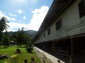 Penan village long house