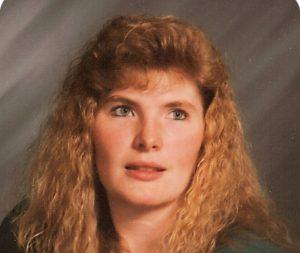Rebecca Barnes-Hogg rockin' her 80s hair