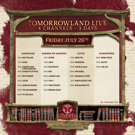 2019 Tomorrowland 第 2 週直播演出時間表出爐,今晚開始全球連線一起High 5