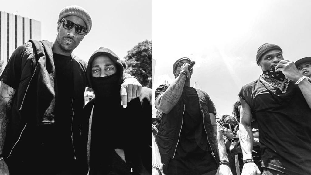 沉默王者 Kendrick Lamar 加入遊行!與 DeRozen 和 Russell 現身最兇街頭康普頓! 4