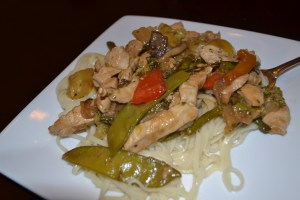Final dish! Pasta chicken stir fry