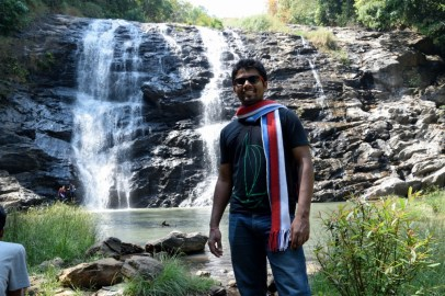 Waterfall at Coorg : Abbey Falls