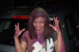 Jyoti with terror