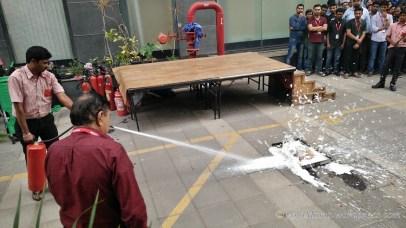 Using Foam based extinguisher