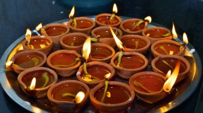 Diya was the source of light in everyone's house this Diwali. #Photography