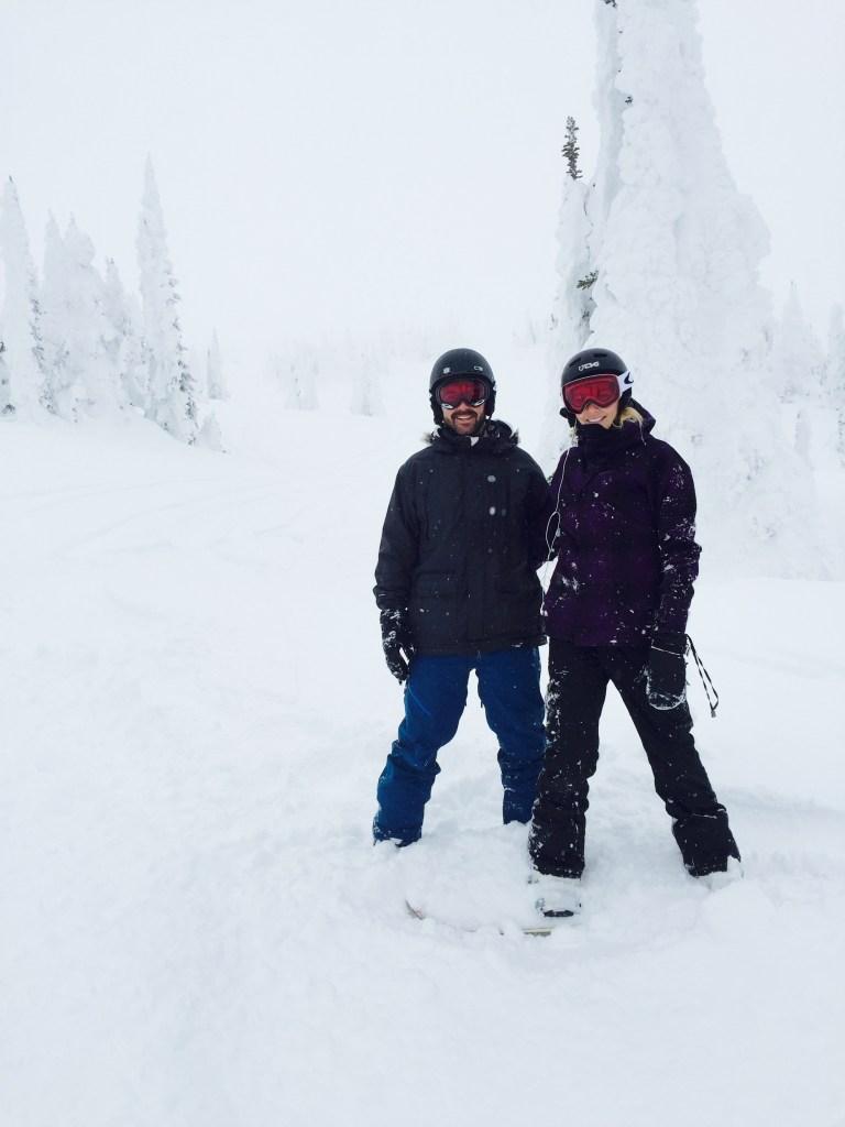 snowboarding, big white ski resort, powder day