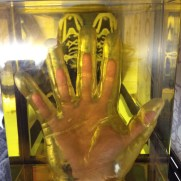 My hand inside a mould of a sumo wrestler's!