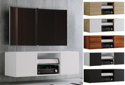 tv schrank lowboard tisch board fernseh sideboard wandschrank jusa breite 115 cm schwarz vcm