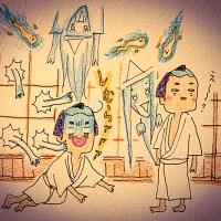 八月納涼歌舞伎「東海道中膝栗毛」感想おえかき・その3★
