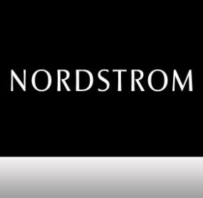 NORDSTROM LOGO ON BLACK BACKGROUND