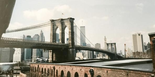 brooklyn bridge, new york skyline