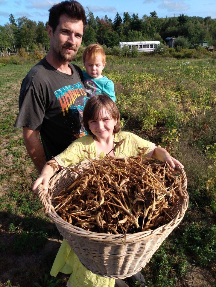 Garrett, Ruth and Joyce soybean harvest