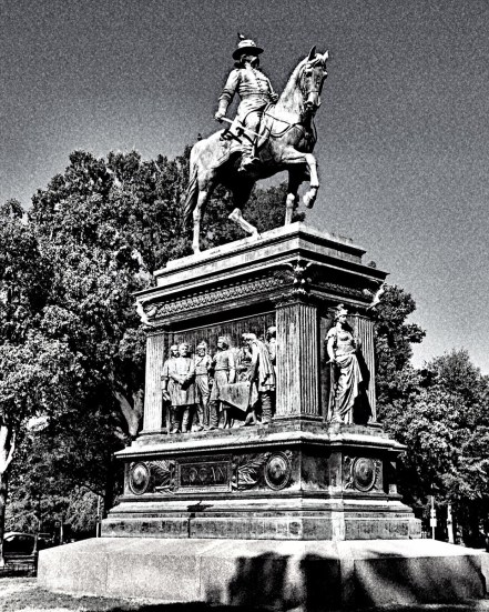 Statue of General John Alexander Logan soldier and political leader, served in the Mexican-American War and was a General in the Union Army in the American Civil War. Photo: Andre Mrevlje