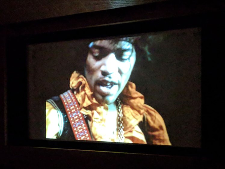 Video footage from a live Jimi Hendrix performance in MoPOP's theater