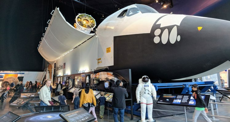 Space shuttle at the Museum of Flight in Seattle