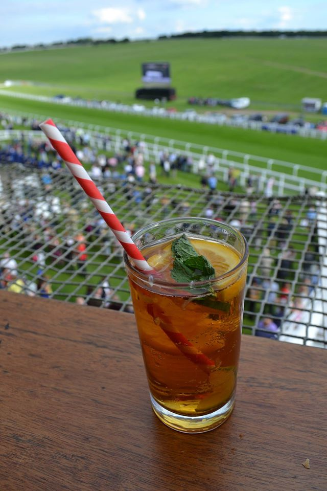 Pimms on Royal Box Balcony Epsom Downs Racecourse