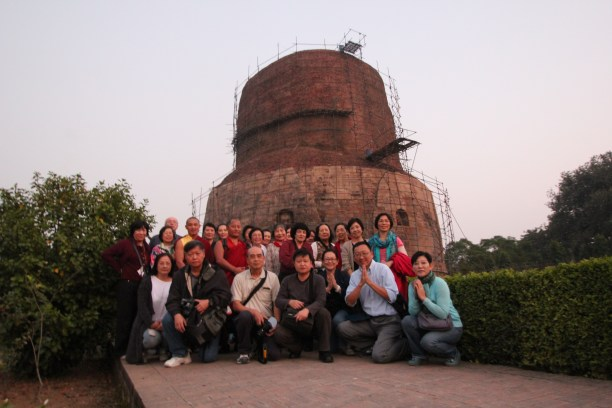 10 (Group at Sarnath Stupa)