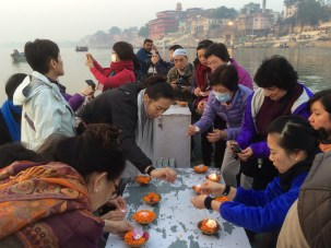 15 (Sunrise Offerings on Ganges River)