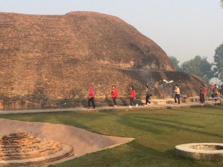 22 (Circumambulating Stupa Where Lord Buddha was Cremeated)