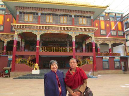 4_Dorje Palmo_Ani Rutao in Main Temple Courtyard
