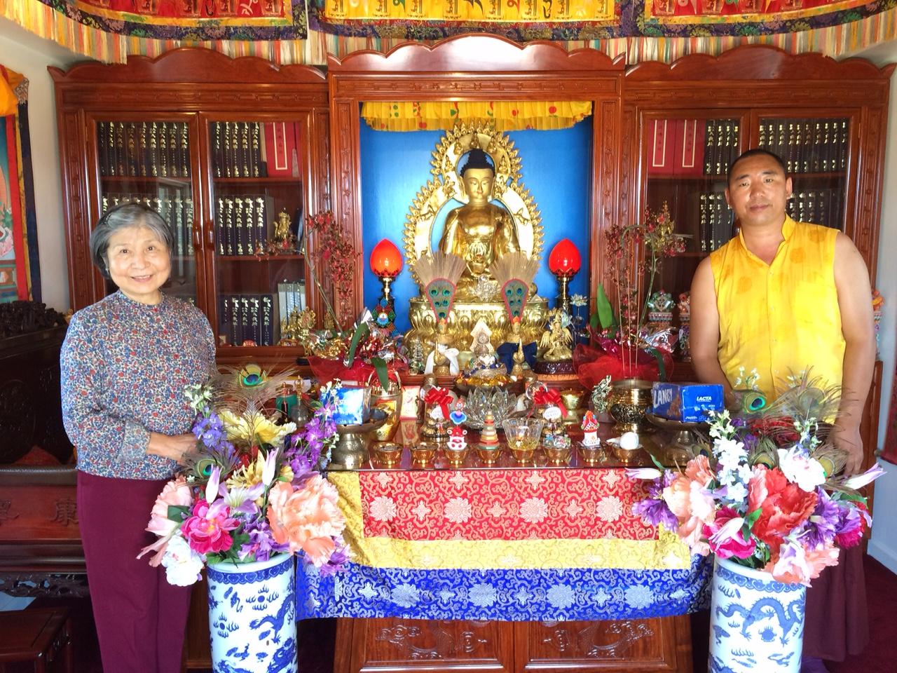 Stupa with Dorje Palmo