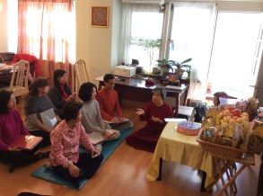 Dorje Palmo leading Discussion in New York