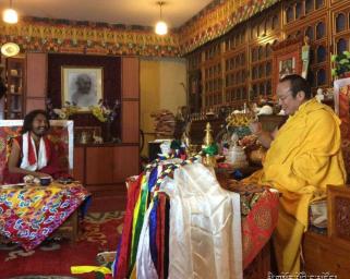 Rinpoche with Tie Situ Rinpoche