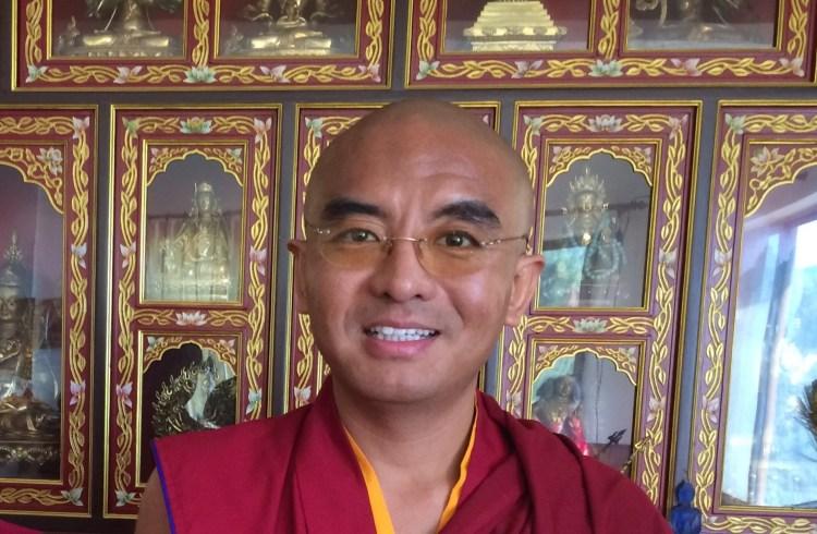 Mingyur Rinpoche at Monastery