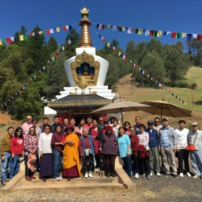 Group at Stupa