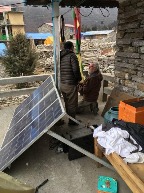 10. Pete Checking Solar Panels