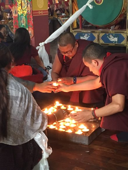 Butter Lamps during Empowerment