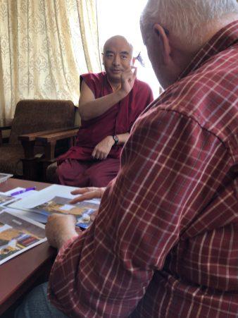 Discussing Dorje Palmo Memorial